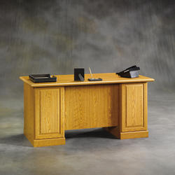 Sauder Orchard Hills Carolina Oak Executive Desk