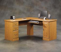 Sauder Orchard Hills Carolina Oak Corner Computer Desk