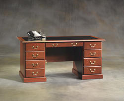 Sauder Heritage Hill Classic Cherry Executive Desk