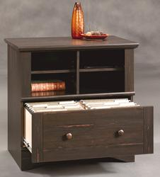 Sauder Harbor View Antiqued Paint Lateral File Cabinet