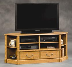 Sauder Orchard Hills Carolina Oak Corner Entertainment Credenza