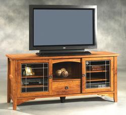 Sauder Rose Valley Abbey Oak Entertainment Credenza