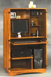 Sauder Harvest Mill Abbey Oak Computer Armoire