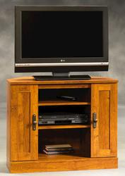 Sauder Harvest Mill Abbey Oak Corner Entertainment Stand
