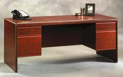 Sauder Cornerstone Classic Cherry Executive Desk