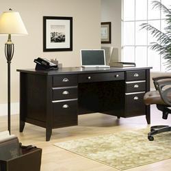 Sauder Shoal Creek Jamocha Wood Executive Desk