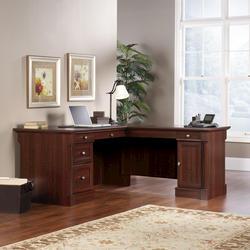 Sauder Palladia Select Cherry Executive L-Desk