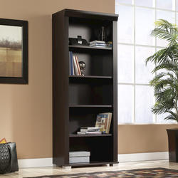 Sauder Select Jamocha Wood 5-Shelf Bookcase