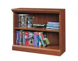 Sauder Camden County Planked Cherry 2-Shelf Bookcase