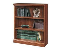Sauder Camden County Planked Cherry 3-Shelf Bookcase