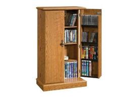 Sauder Orchard Hills Carolina Oak Multimedia Storage Cabinet