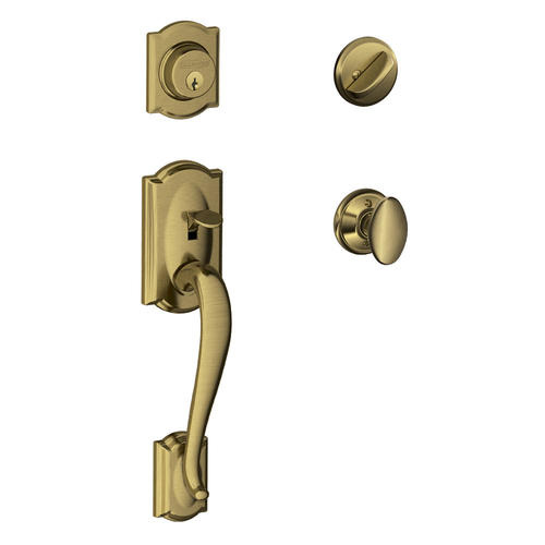 Schlage Camelot Single Cylinder Handleset And Siena Knob At Menards