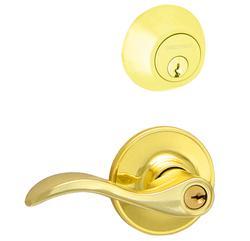 Dexter Seville Bright Brass Single Cylinder Entry Lever and Deadbolt