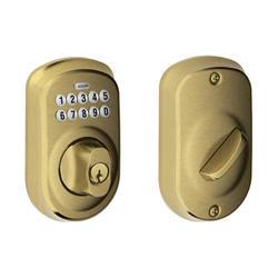 Schlage Plymouth Electronic Keypad Entry Deadbolt At Menards 174