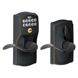 Schlage Accent Electronic Keypad Flexlock Entry Lever in Aged Bronze