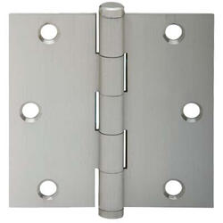 "3.5"" Satin Nickel Square Hinge (3-Pack)"