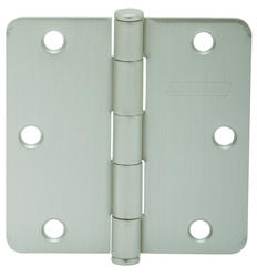 "3.5"" Satin Nickel Hinge (1/4"" Radius) (3-Pack)"
