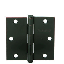 "3.5"" Aged Bronze Square Hinge (3-Pack)"