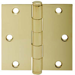 "3.5"" Bright Brass Square Hinge (3-Pack)"