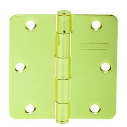 """3.5"""" Bright Brass Hinge (1/4"""" Radius) (3-Pack)"""