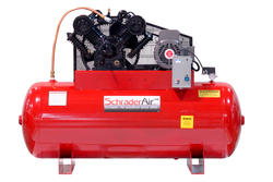 SchraderAir 120 Gallon Horizontal Professional Air Compressor - 7-1/2HP 230 Volt 2-Stage (3-Phase)