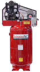 SchraderAir 80 Gallon Vertical Professional Air Compressor - 5HP 208 Volt 2-Stage