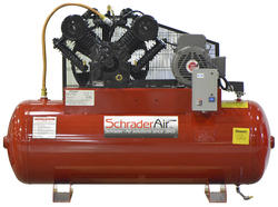 SchraderAir 80 Gallon Horizontal Professional Air Compressor - 7-1/2HP 230 Volt 2-Stage (3-Phase)