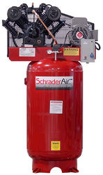 SchraderAir 80 Gallon Vertical Professional Air Compressor - 7-1/2HP 230 Volt 2-Stage (3-Phase)