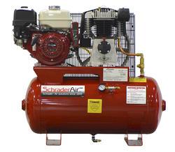 SchraderAir 30 Gallon Horizontal Honda Gas Air Compressor - 8HP 2-Stage