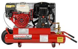 SchraderAir 8 Gallon Honda Gas Air Compressor - 8HP Single Stage