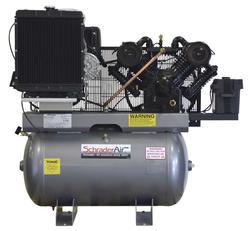 SchraderAir 50 Gallon Horizontal Kohler Diesel Air Compressor - 16.8HP 2-Stage