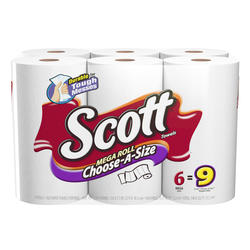Scott 6 Pack Choose-a-Size Towels