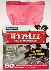 WYPALL Red Shop Towels Box - 80 Count