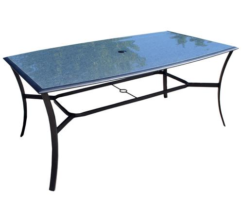 Glass replacement table top for saratoga dining table at for Replacement glass for dining room table