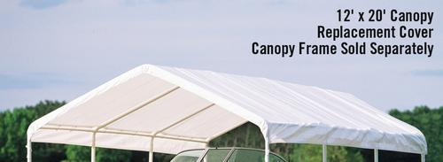 ShelterLogic Super Max 12' X 20' White Replacement Canopy