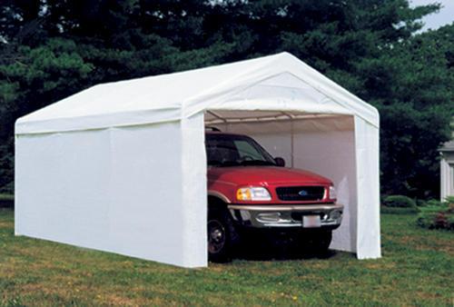 Carport Screen Kit : Shelterlogic max ap  canopy enclosure kit white