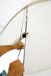 ShelterLogic® Roll-Up Door Kit, Powder Coated (one for double zipper door, two for triple zipper door)