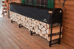 ShelterLogic® 12' Firewood Rack with Adjustable Half-Cover
