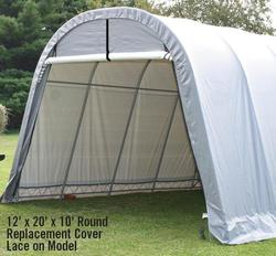 ShelterLogic® RoundTop® 13' x 20' x 10' Lace-On Replacement Cover Kit, Gray (for 62667 frames purchased before 2005)