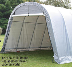 ShelterLogic® RoundTop® 13' x 24' x 10' Lace-On Replacement Cover Kit, Gray (for 62668 frames purchased before 2005)
