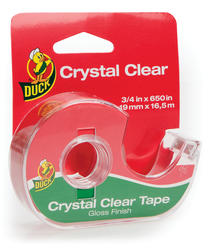 """Duck 0.75"""" x 650"""" Crystal Clear Invisible Stationery Tape"""