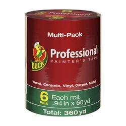 "Duck 0.94"" x 60-yd 3-Day Professional Painting Tape - 6-pk"