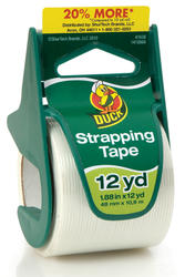 "Duck 1.88"" x 12-yd Fiberglass-Reinforced Strapping Tape with Dispenser"