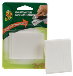 "Duck 1/2"" x 3/4"" Permanent Double-Sided Foam Mounting Tabs - 60-ct"