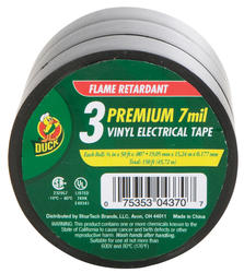 """Duck 3/4"""" x 50' All-Purpose Electrical Tape - 3-pk"""