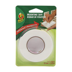 "Duck 1"" x 60"" Permanent Double-Sided Foam Mounting Tape"