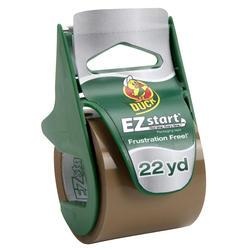 "Duck EZ Start 1.88"" x 22.2-yd Tan Packaging Tape with Dispenser"
