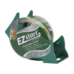 """Duck EZ Start 1.88"""" x 30-yd Clear Packaging Tape with Dispenser"""