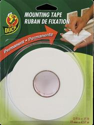 "Duck 0.75"" x 15' Permanent Double-Sided Foam Mounting Tape"