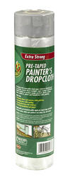 Duck 5.25' x 19.68' Pre-Taped Extra Strong Painter's Drop Cloth
